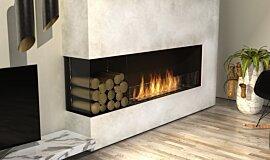 Living Room Linear Fires Angle gauche Idea