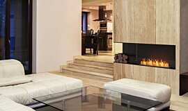 Living Area Linear Fires Angle gauche Idea