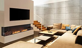 Living Area Linear Fires Baie (trois faces) Idea