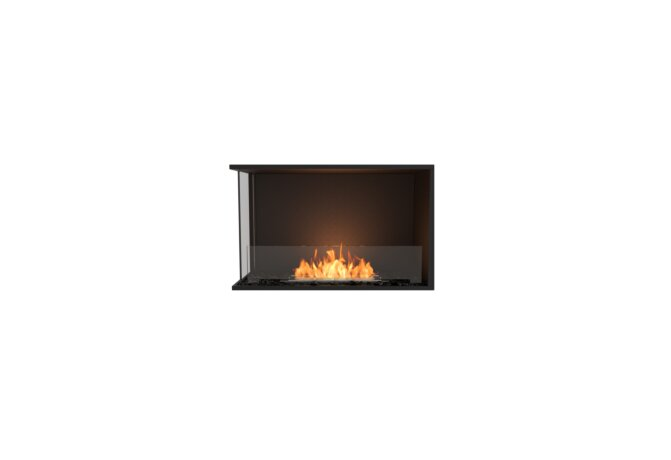 Flex 32LC Angle gauche - Ethanol / Black / Installed View by EcoSmart Fire