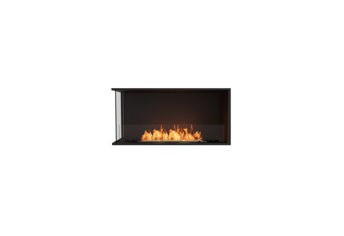 Flex 42LC Angle gauche - Ethanol / Black / Installed View by EcoSmart Fire