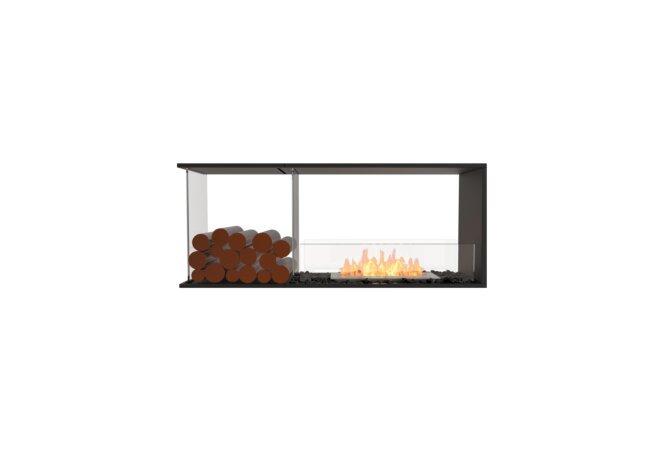Flex 50PN.BXL Péninsule (trois faces) - Ethanol / Black / Installed View by EcoSmart Fire