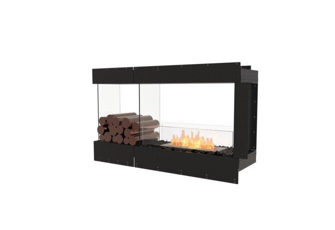 Flex 50PN.BXL Péninsule (trois faces) - Ethanol / Black / Uninstalled View by EcoSmart Fire