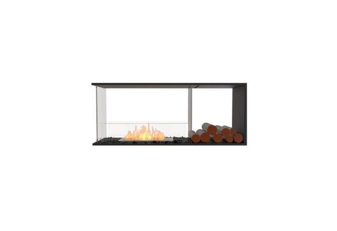 Flex 50PN.BXR Péninsule (trois faces) - Ethanol / Black / Installed View by EcoSmart Fire