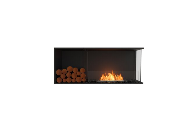 Flex 50RC.BXL Angle droit - Ethanol / Black / Installed View by EcoSmart Fire