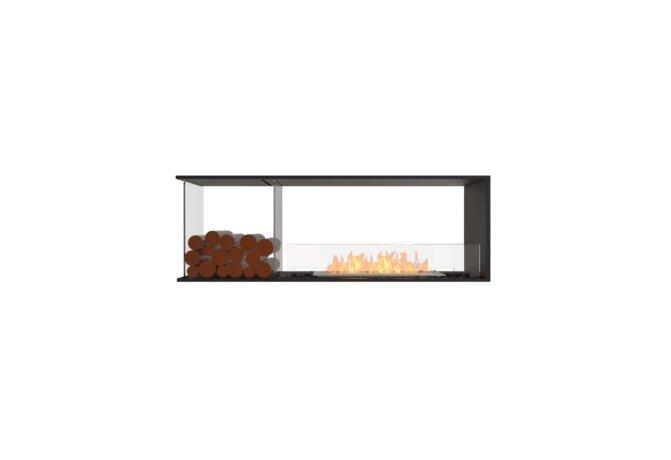 Flex 60PN.BXL Péninsule (trois faces) - Ethanol / Black / Installed View by EcoSmart Fire