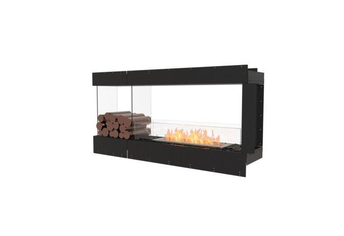 Flex 60PN.BXL Péninsule (trois faces) - Ethanol / Black / Uninstalled View by EcoSmart Fire