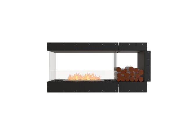 Flex 60PN.BXR Péninsule (trois faces) - Ethanol / Black / Uninstalled View by EcoSmart Fire