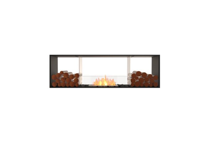 Flex 68DB.BX2 Double face - Ethanol / Black / Installed View by EcoSmart Fire