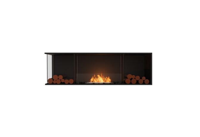 Flex 68LC.BX2 Angle gauche - Ethanol / Black / Installed View by EcoSmart Fire