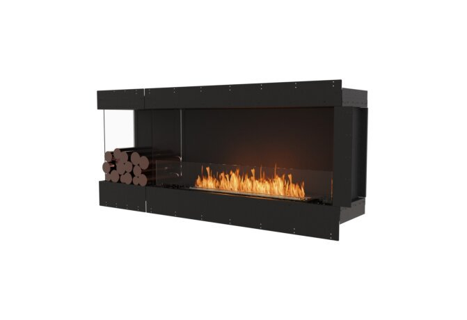 Flex 68LC.BXL Angle gauche - Ethanol / Black / Uninstalled View by EcoSmart Fire