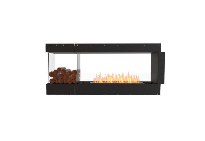 Flex 68PN.BXL Péninsule (trois faces) - Ethanol / Black / Uninstalled View by EcoSmart Fire