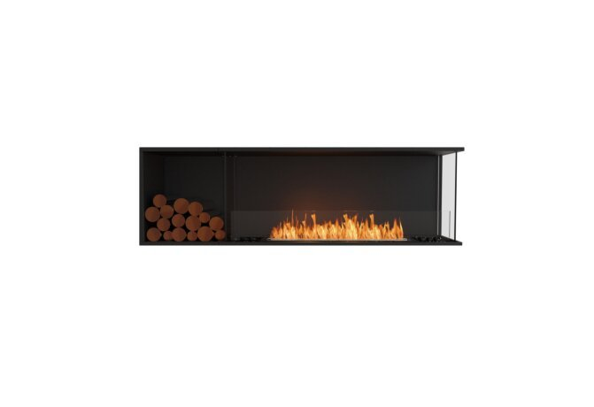 Flex 68RC.BXL Angle droit - Ethanol / Black / Installed View by EcoSmart Fire