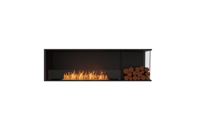 Flex 68RC.BXR Angle droit - Ethanol / Black / Installed View by EcoSmart Fire