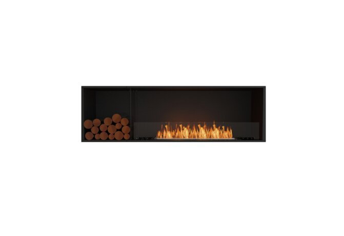 Flex 68SS.BXL Simple face - Ethanol / Black / Installed View by EcoSmart Fire