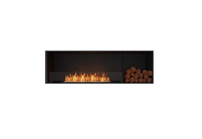 Flex 68SS.BXR Simple face - Ethanol / Black / Installed View by EcoSmart Fire