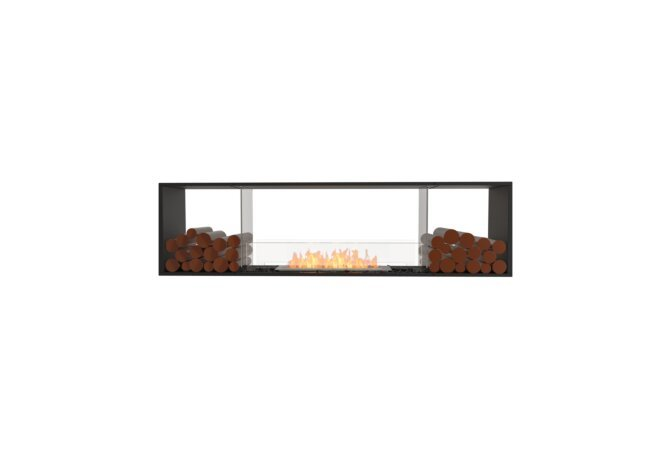 Flex 78DB.BX2 Double face - Ethanol / Black / Installed View by EcoSmart Fire