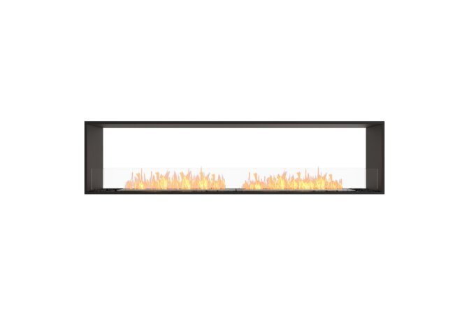 Flex 86DB Double face - Ethanol / Black / Installed View by EcoSmart Fire