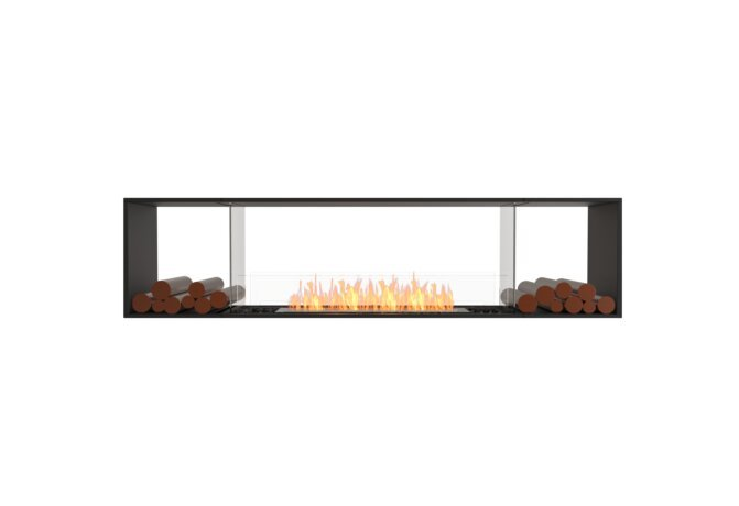 Flex 86DB.BX2 Double face - Ethanol / Black / Installed View by EcoSmart Fire