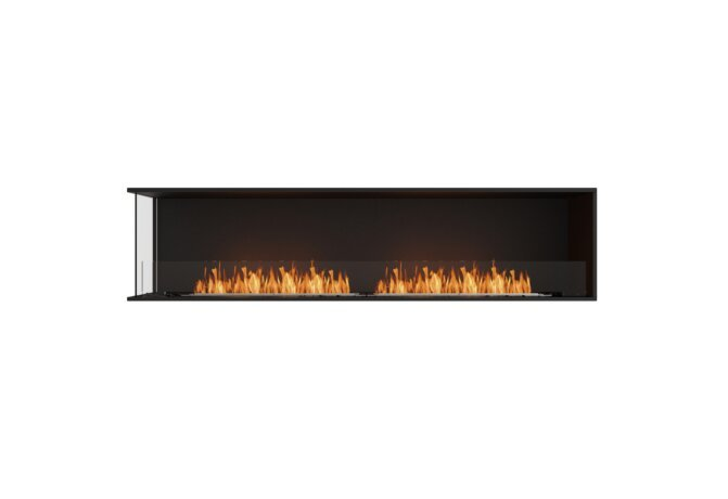 Flex 86LC Angle gauche - Ethanol / Black / Installed View by EcoSmart Fire