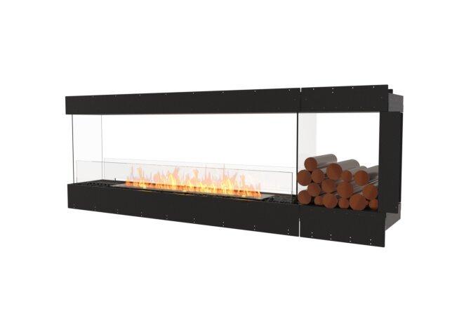 Flex 86PN.BXR Péninsule (trois faces) - Ethanol / Black / Uninstalled View by EcoSmart Fire