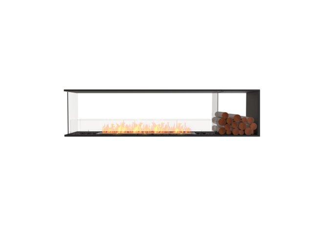 Flex 86PN.BXR Péninsule (trois faces) - Ethanol / Black / Installed View by EcoSmart Fire