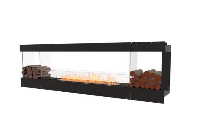 Flex 104PN.BX2 Péninsule (trois faces) - Ethanol / Black / Uninstalled View by EcoSmart Fire