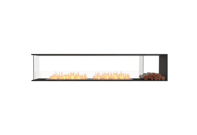 Flex 104PN.BXR Péninsule (trois faces) - Ethanol / Black / Installed View by EcoSmart Fire