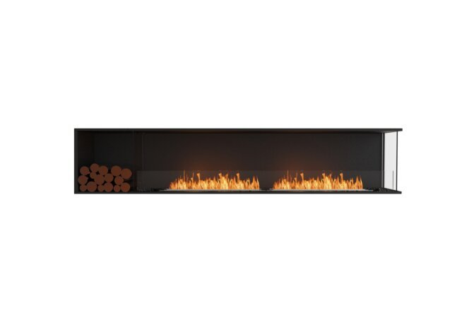 Flex 104RC.BXL Angle droit - Ethanol / Black / Installed View by EcoSmart Fire