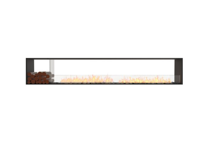 Flex 122DB.BX1 Double face - Ethanol / Black / Installed View by EcoSmart Fire