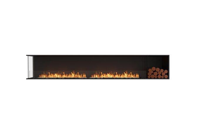 Flex 122LC.BXR Angle gauche - Ethanol / Black / Installed View by EcoSmart Fire