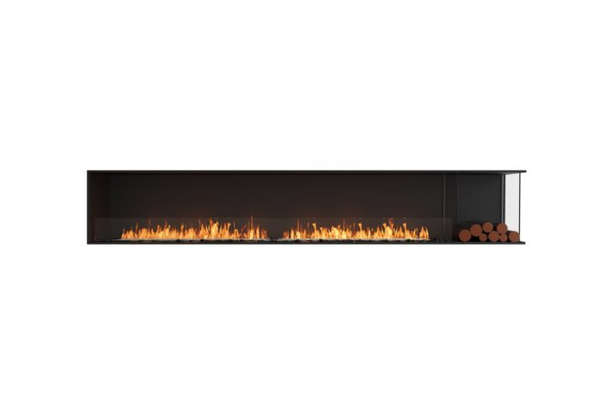 Flex 122RC.BXR Angle droit - Ethanol / Black / Installed View by EcoSmart Fire