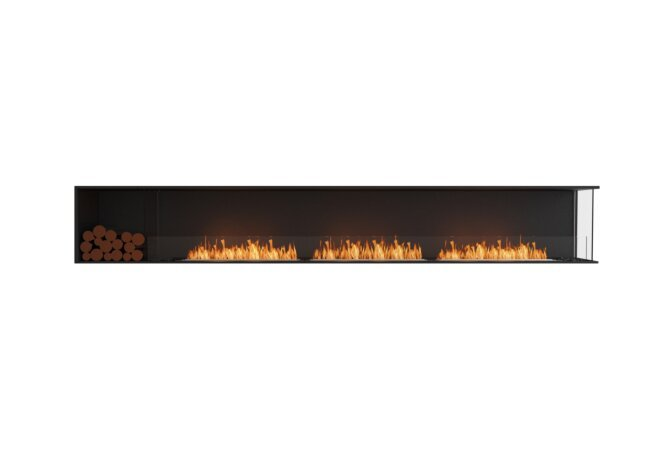 Flex 140RC.BXL Angle droit - Ethanol / Black / Installed View by EcoSmart Fire