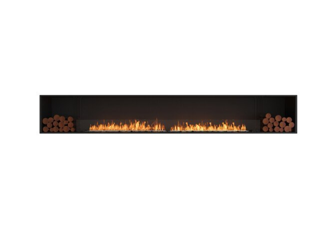 Flex 140SS.BX2 Simple face - Ethanol / Black / Installed View by EcoSmart Fire