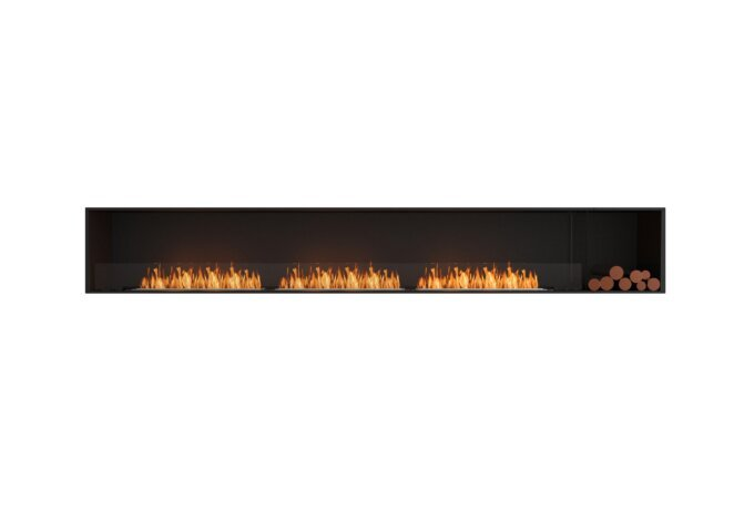 Flex 140SS.BXR Simple face - Ethanol / Black / Installed View by EcoSmart Fire