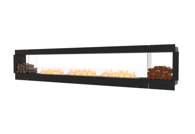 Flex 158DB.BX2 Double face - Ethanol / Black / Uninstalled View by EcoSmart Fire