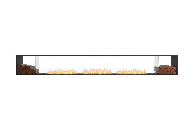 Flex 158DB.BX2 Double face - Ethanol / Black / Installed View by EcoSmart Fire
