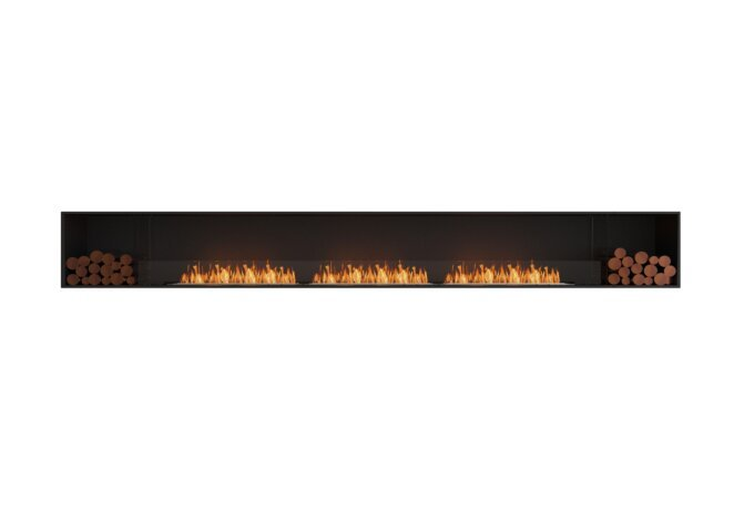 Flex 158SS.BX2 Simple face - Ethanol / Black / Installed View by EcoSmart Fire