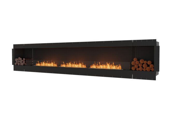 Flex 158SS.BX2 Simple face - Ethanol / Black / Uninstalled View by EcoSmart Fire
