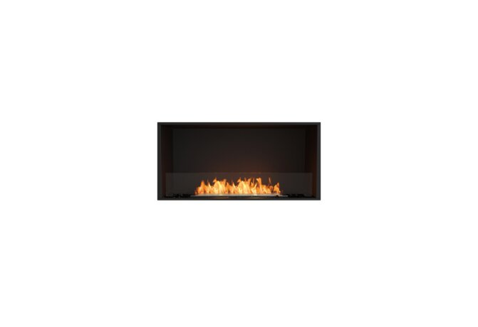Flex 42SS Simple face - Ethanol / Black / Installed View by EcoSmart Fire