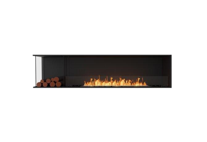 Flex 86LC.BXL Angle gauche - Ethanol / Black / Installed View by EcoSmart Fire
