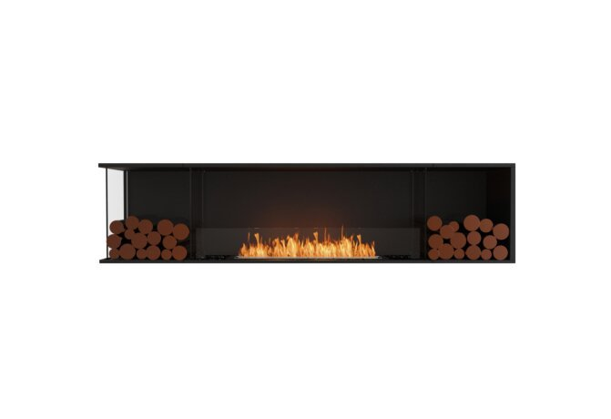 Flex 86LC.BX2 Angle gauche - Ethanol / Black / Installed View by EcoSmart Fire