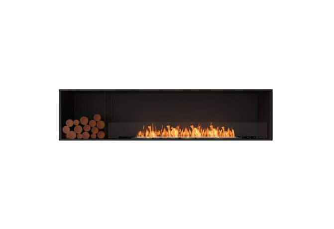 Flex 86SS.BXL Simple face - Ethanol / Black / Installed View by EcoSmart Fire