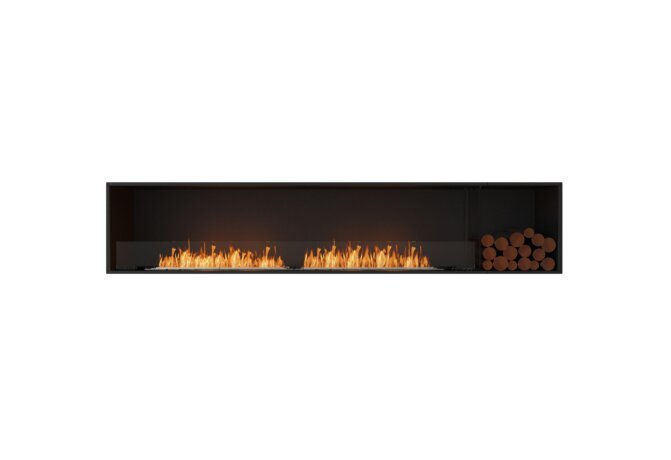 Flex 104SS.BXR Simple face - Ethanol / Black / Installed View by EcoSmart Fire