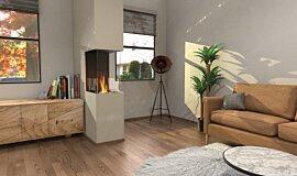 Living Area Residential Fireplaces Péninsule (trois faces) Idea