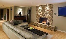 Lounge Room Linear Fires Simple face Idea