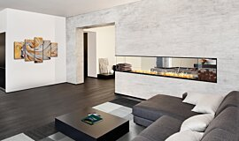 Living Area Linear Fires Péninsule (trois faces) Idea