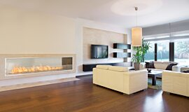 Living Area Commercial Fireplaces Inserts de cheminée Idea