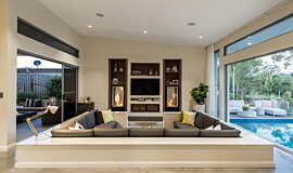 Private Residence Residential Fireplaces Inserts de cheminée Idea