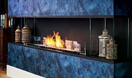 The Barns, UK Commercial Fireplaces Baie (trois faces) Idea